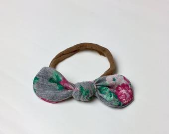 Grey floral headband