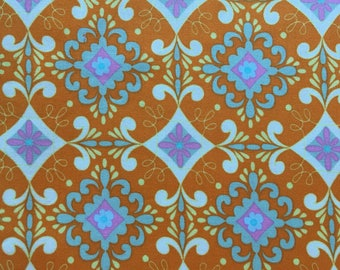 Dena Designs fabric Gracie, Pretty Little Things collection, tangerine, by the half yard, yardage available