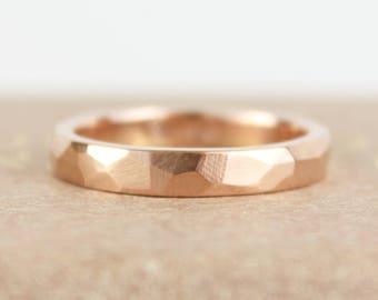 Rose Gold Wedding Band, Rose Gold Wedding, Womens Wedding band, 14k rose gold, Gold wedding ring