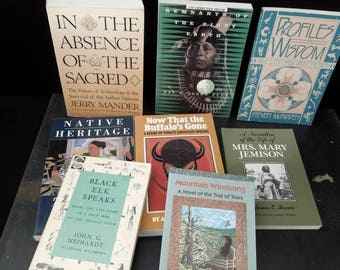 American Indian Book Stack - Native American History Book Collection - United States History Culture