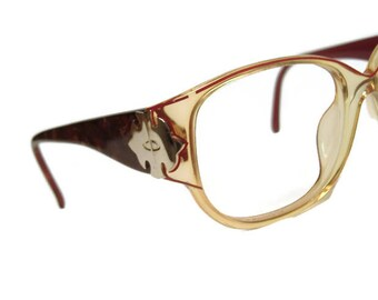 Vintage Christian Dior Big Lens Cateye Eyeglasses Eyewear Frame