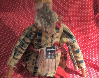 Primitive Uncle Sam doll