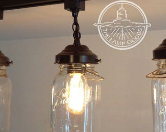 mason jar lighting track single one vintage quart chandelier pendant farmhouse flush mount ceiling fan