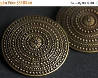SUMMER SALE Two (2) Norse Shoulder Brooches. Bronze Apron Pins. Bronze Viking Brooches. Concentric Rings Brooches. Historical Reenactment Je