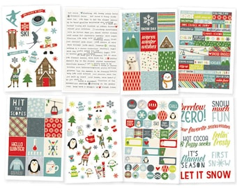 "Sub Zero Stickers 4""X6"" 8/Pkg 293 Stickers Simple Stories • Christmas Planner Stickers (9436)"