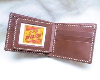 Ho-Ho-Sew Genuine Leather Short Wallet with ID Window Flip Purse DIY Kit
