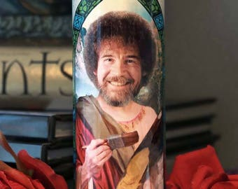 Saint Bob Ross Prayer Candle / Joy of Painting