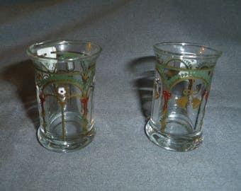 """Holmegaard Copenhagen Denmark Dram, Shot Glasses, Christmas Motif 2.25"""", Barware, Gift"""