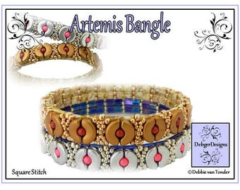 Beading Pattern, Tutorial, Bangle - Artemis