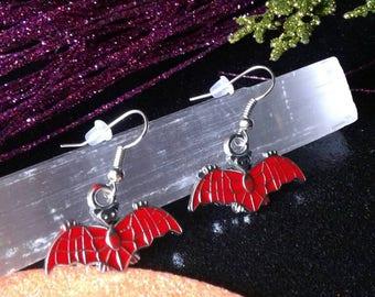 Vampire Bat Earrings