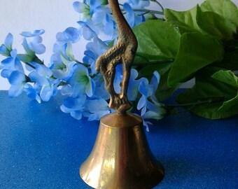 Vintage Brass Giraffe  Bell