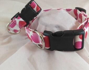 Valentine's Day Hearts Collar, Valentines Dog Collar, Breakaway Cat Collar,Les Fleurs Dog Collar,Collier de chien,collar de perro