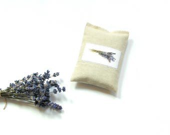 Lavender sachet, linen sachet, organic lavender, drawer freshener, scented sachet gift for her, sachet bag