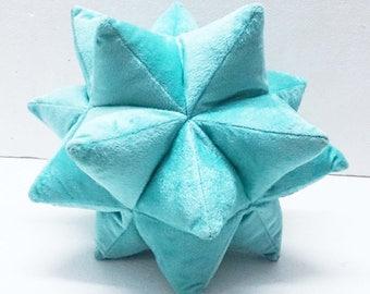 Blue Throw Pillow-Star pillow-blue-velvet throw pillow-stars-Twinkle-designer pillow-velvet pillow-accent pilow-stars-home decor-gifts