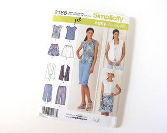 UNCUT Pattern for Top, Vest, Skirt, Cropped Pants, Sizes 4, 6, 8, 10, 12, 14, 16, 18, 20, 22, 24, 26 Bust 29 - 48, xxS, xS, M, Lg, xL, XXL