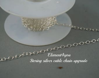Upgrade to sterling silver chain for bracelet