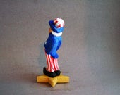 Wood carved Uncle Sam figure