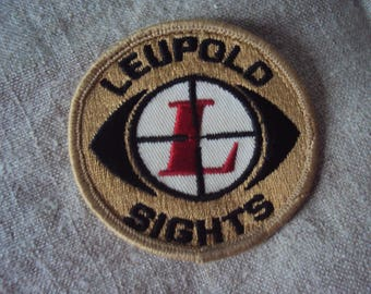 Vintage  1950s Leupold Sights Sew On Patch