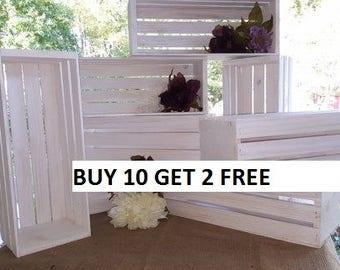white wedding / wedding centerpiece , white wash wooden crates , wedding decor , wedding reception , mason jar holder , table c