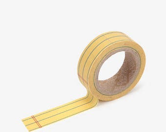 Note printed Korean washi tape  for scrapbooking, decorations (15mm x 10m)