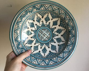 Artist One of a Kind Mexican Pottery  Bowl Plate
