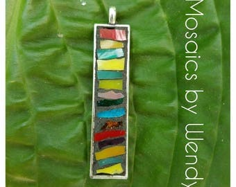 SOLD!! Mosaic pendant Multi colored