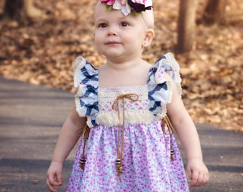 Best Dressed Girl dress PDF Sewing Pattern, including sizes 12 months-12 years, Long Sleeve Dress Pattern