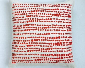 Tomato Red Hilary Pillow