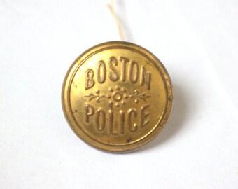 Civil War Era Boston Police Uniform Button Attleboro, MA