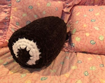 Yodel pillow Food Pillow Swiss Roll Neck Roll Crocheted Creme filled chocolate cake pillow