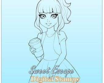 Coffee Break Digital Stamp
