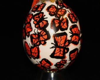 Hand decorated Blown Egg Ornament (Butterflies)