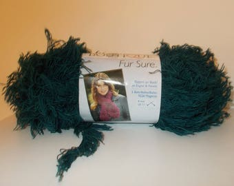 Teal Boutique Yarn Red Heart Fur Sure