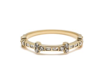 Rabana Ring - Art Deco inspired diamond band
