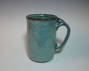 Large 22 ounce Blue Green Coffee Mug, Beer Stein - in Stock