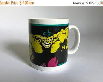 Vintage c. 1994 Incredible Hulk Coffee Mug by Marvel Comics by OZ