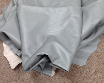 6-866.  Gray leather Cowhide