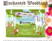 Enchanted Woodland Forest Birthday Party Invitation - Printable digital file
