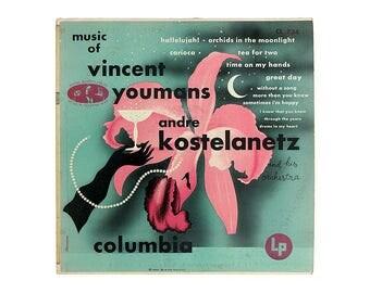 "Alex Steinweiss record album design, c.1955. Andre Kostelanetz ""Music of Vincent Youmans"" LP"