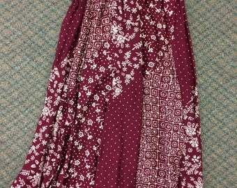 Brownstone Studio Rayon India Skirt Suit S Maroon Burgundy