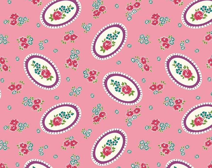 Prim and Proper Fabric by Lindsay Wilkes from The Cottage Mama for Riley Blake Designs and Penny Rose Fabrics - Pink Cameo