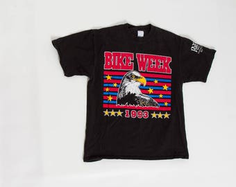 90s Bike Week motorcycle t shirt biker tee