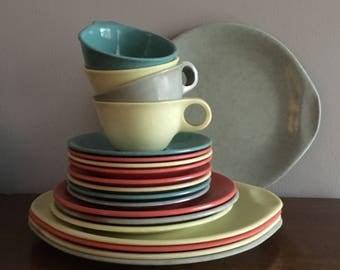 russel wright residential melmac dinnerware set of 20 & Patio dinnerware | Etsy