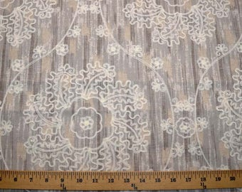 Mythical Medallions Pearl Fabric
