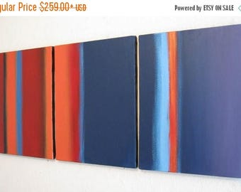 """painting abstract large wall art triptych huge hanging """"Colour Flats"""" oversized contemporary office home huge canvas 3 large sizes available"""