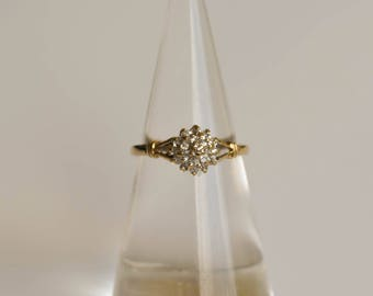 Diamond Engagement or Wedding Ring, 9ct Gold Ring Size 6 1/2
