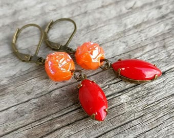 ear candy earrings | vintage and repurposed beads and glass jewels | gift for her