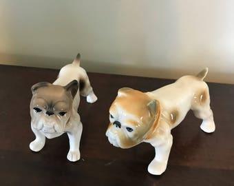 Pair of Vintage Bulldog Figurines