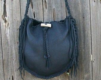 ON SALE Black leather tote ,  Handmade tote ,  Leather tote bag ,  Large shoulder bag ,  Black handbag , Leather tote bag