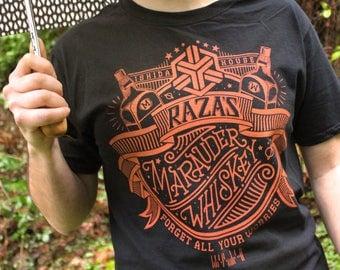 Dark Matter Shirt   Raza's Marauder Whiskey Dark Matter T-Shirt   Hand Screen Printed Shirt   Scifi Shirt